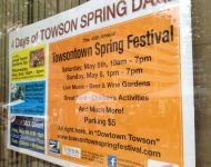 Towsontown Spring Festival Banner